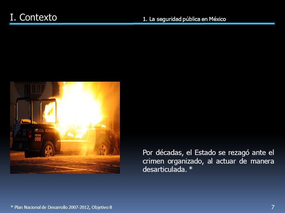 RISSP: realizar estudios sobre las causas estructurales del delito, en 2009 la SSP programó 8 estudios.