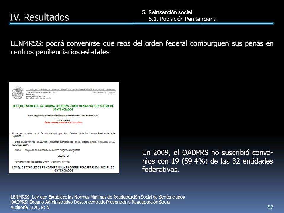 En 2009, el OADPRS no suscribió conve- nios con 19 (59.4%) de las 32 entidades federativas.