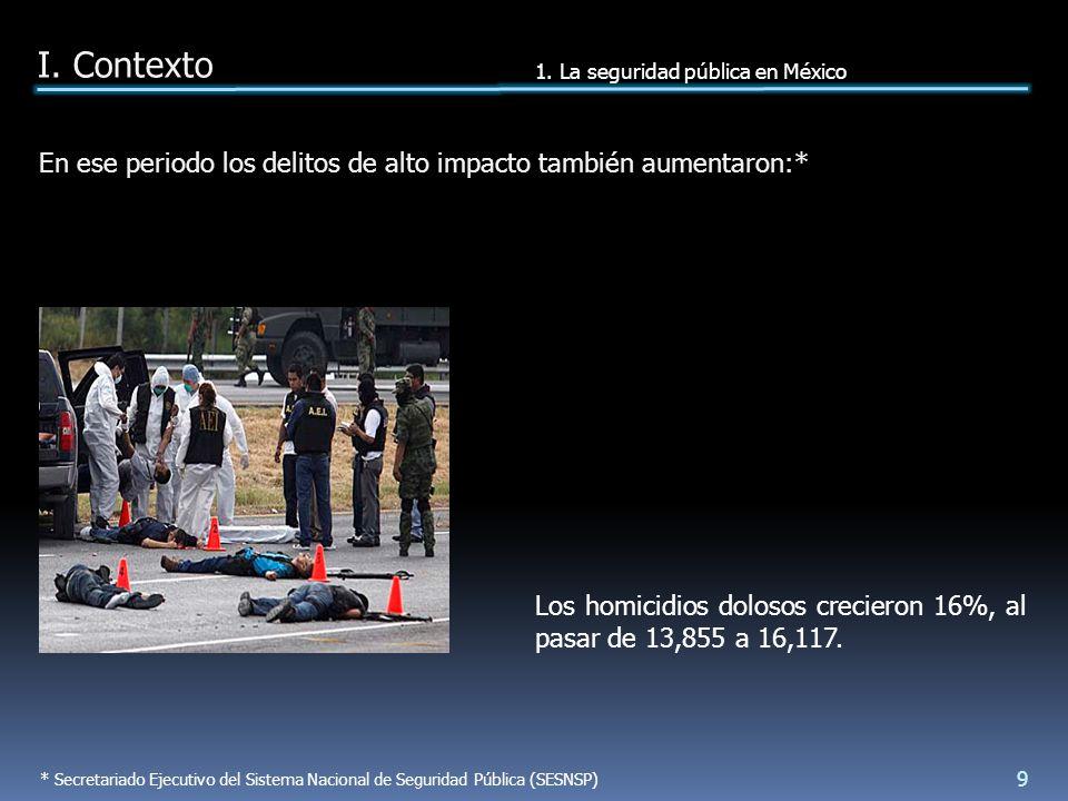 PSSP 2007-2012: la SSP implantará la estrategia Limpiemos México en las pobla- ciones con mayor índice delictivo para prevenir eficazmente el delito.