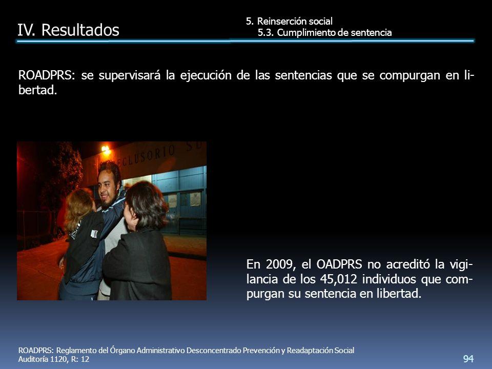 En 2009, el OADPRS no acreditó la vigi- lancia de los 45,012 individuos que com- purgan su sentencia en libertad.