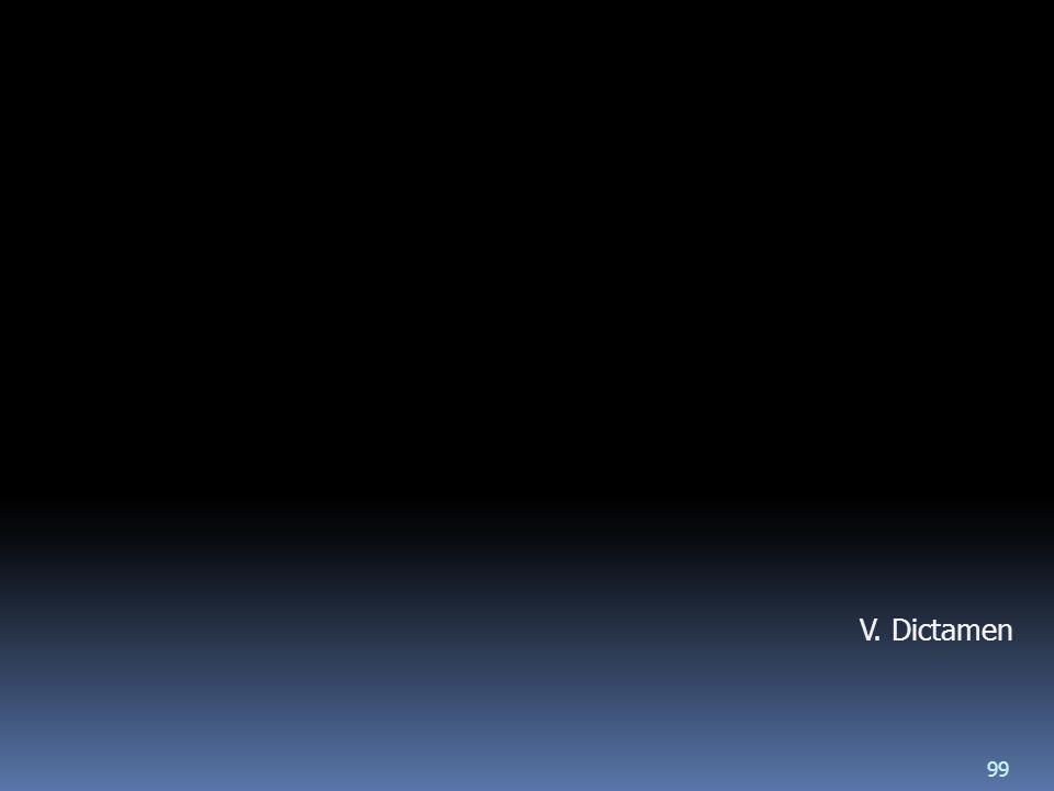 V. Dictamen 99