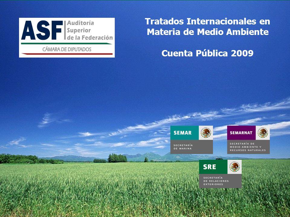 Tratados Internacionales en Materia de Medio Ambiente Cuenta Pública 2009