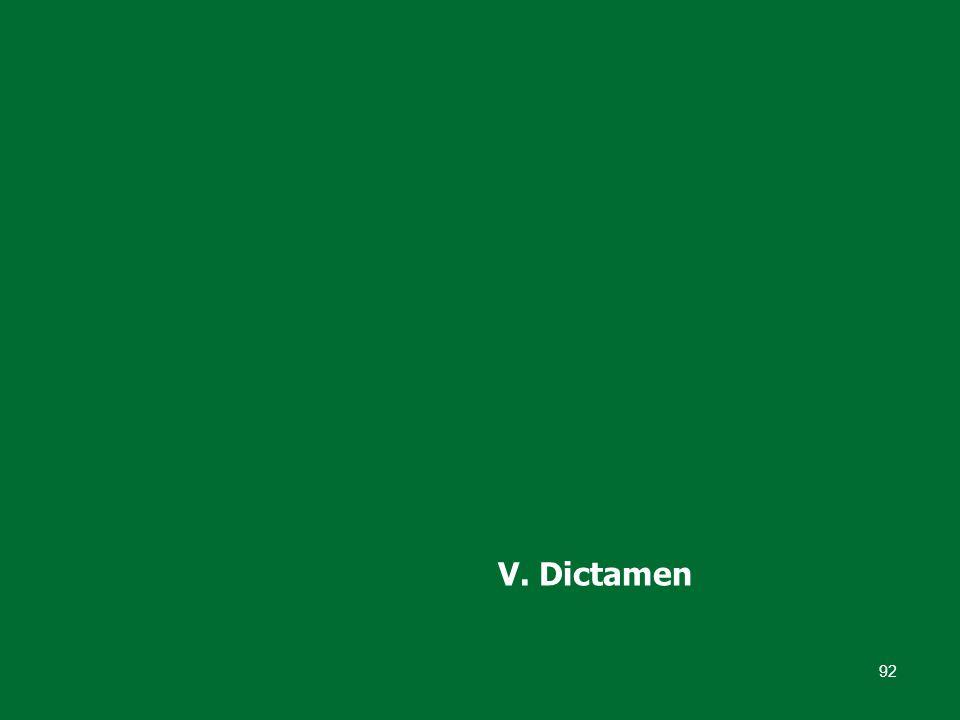 92 V. Dictamen
