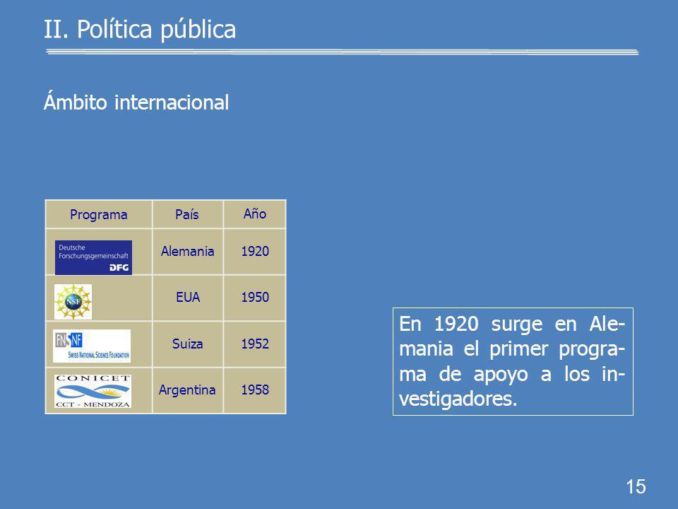 II. Política pública 14