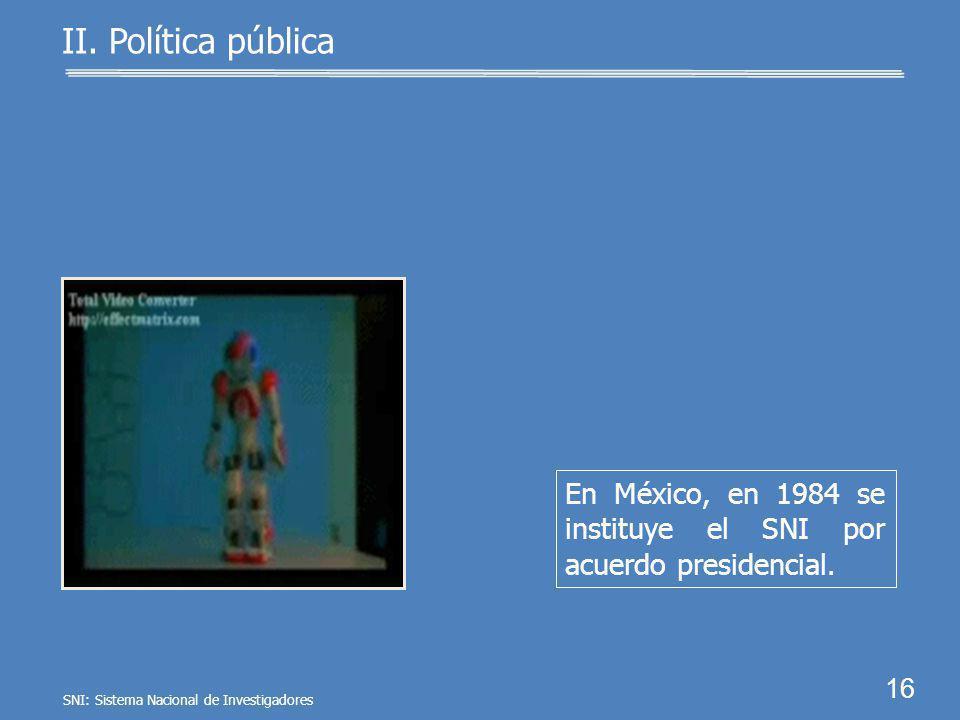 ProgramaPaís Año Alemania1920 EUA1950 Suiza1952 Argentina1958 15 II. Política pública En 1920 surge en Ale- mania el primer progra- ma de apoyo a los