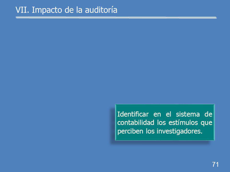 70 Impulsar la integración de grupos multidisciplinarios para desarrollar proyectos regiona- les. VII. Impacto de la auditoría