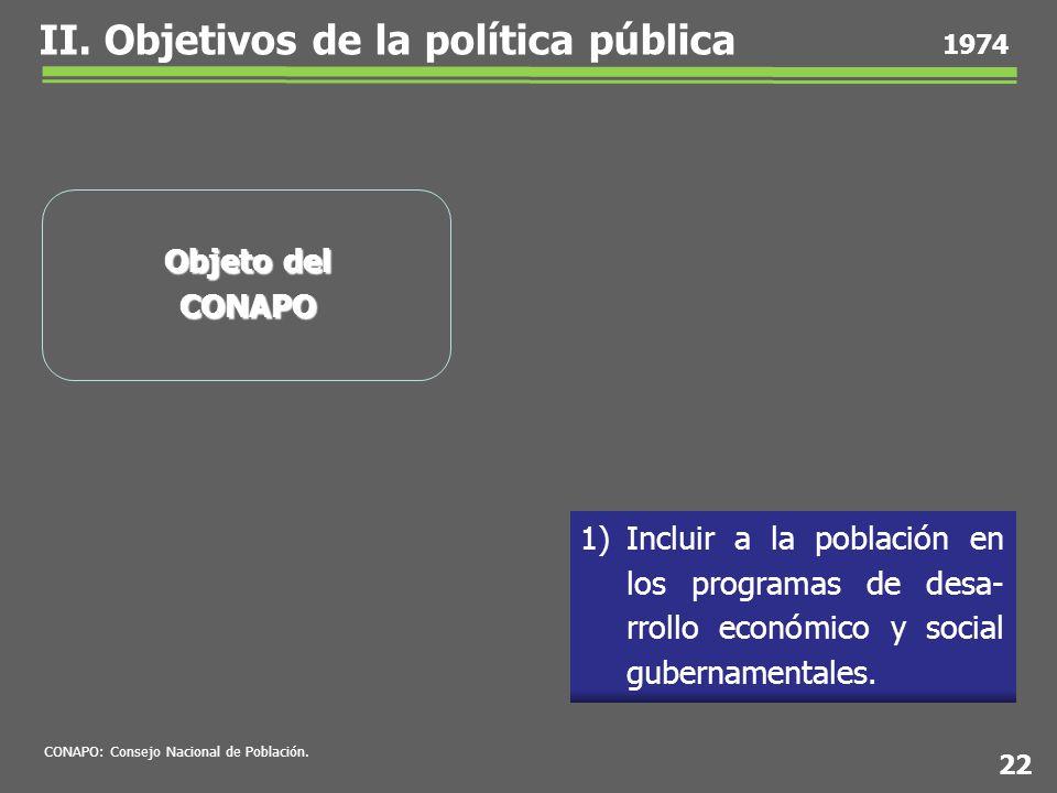 1)Incluir a la población en los programas de desa- rrollo económico y social gubernamentales.