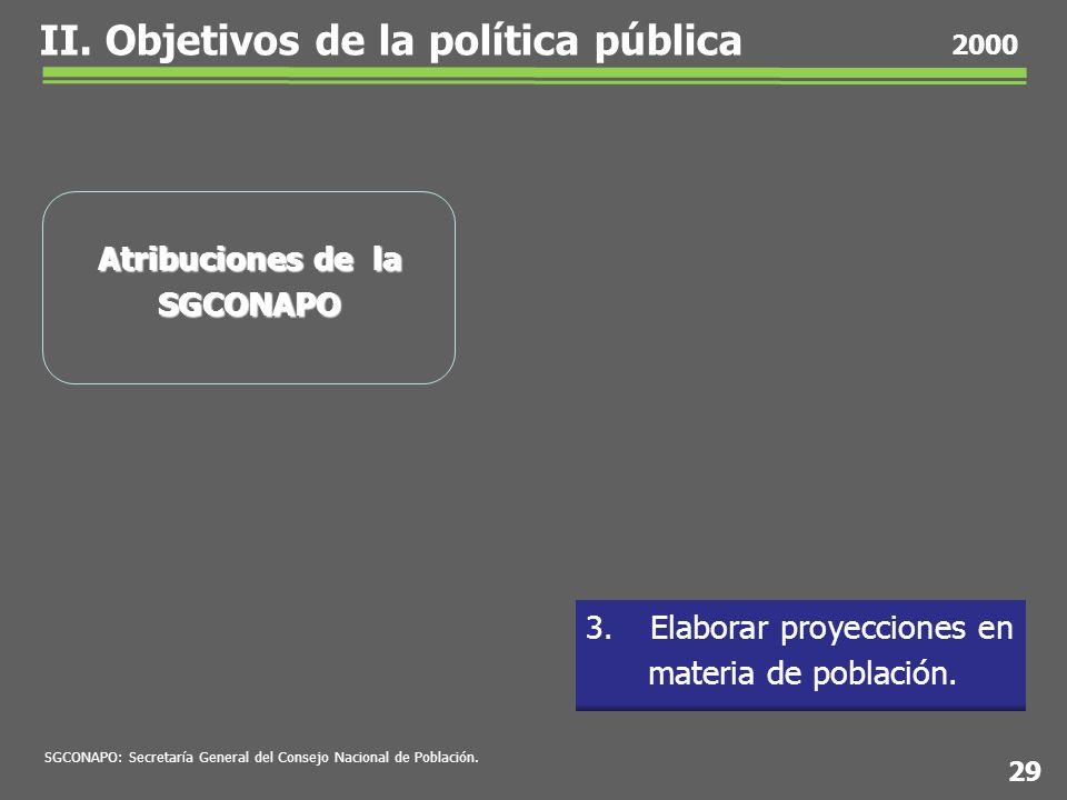 3. Elaborar proyecciones en materia de población.