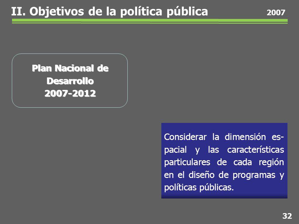 Considerar la dimensión es- pacial y las características particulares de cada región en el diseño de programas y políticas públicas.