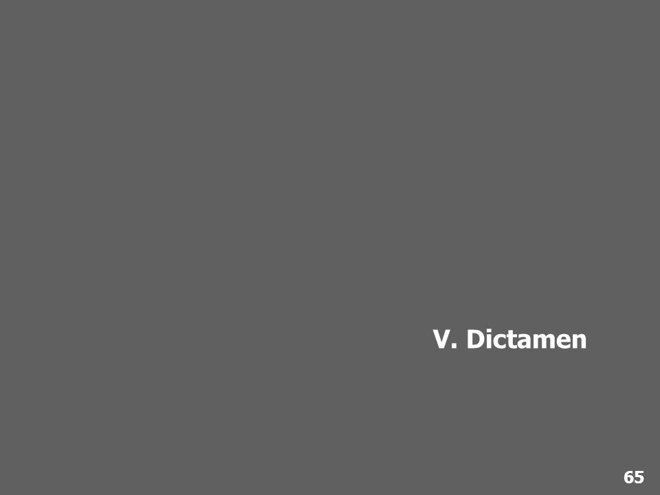 V. Dictamen 65