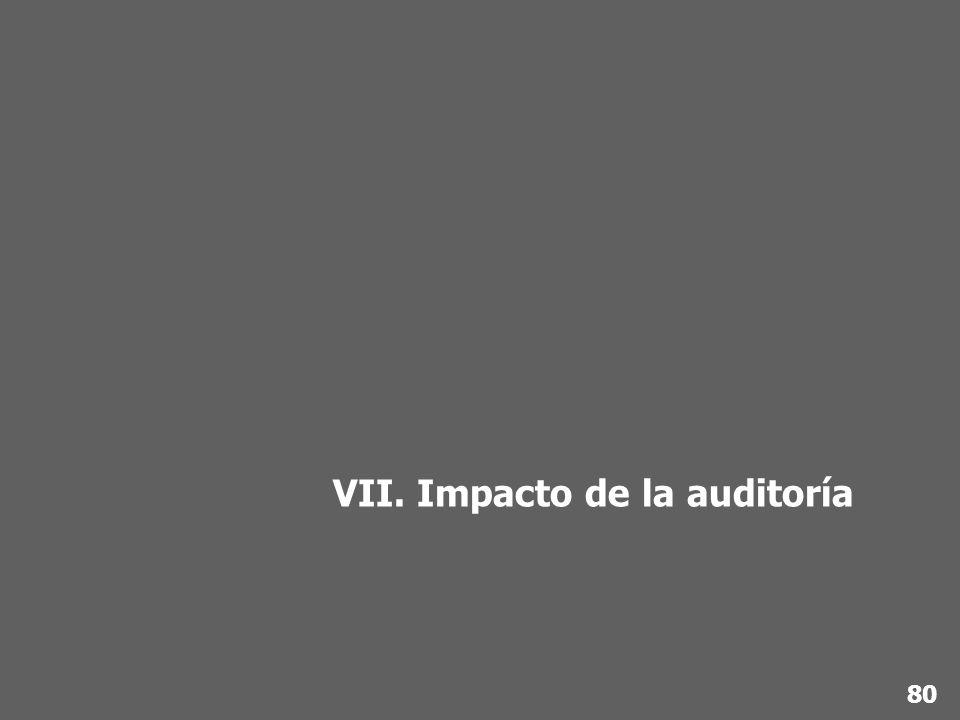 VII. Impacto de la auditoría 80