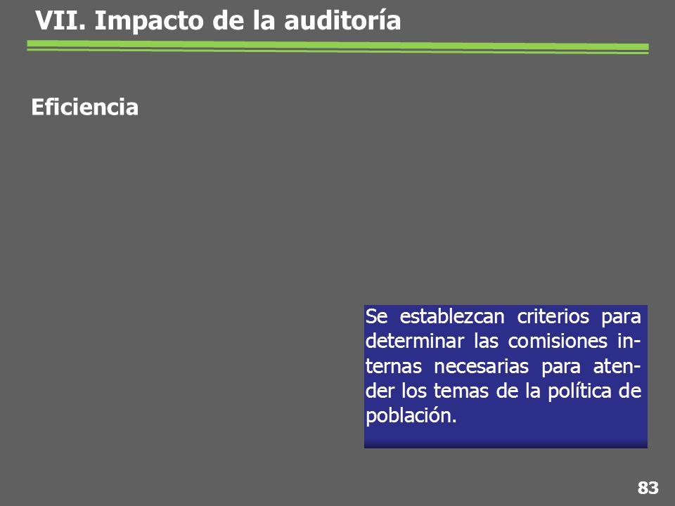 Se establezcan criterios para determinar las comisiones in- ternas necesarias para aten- der los temas de la política de población.
