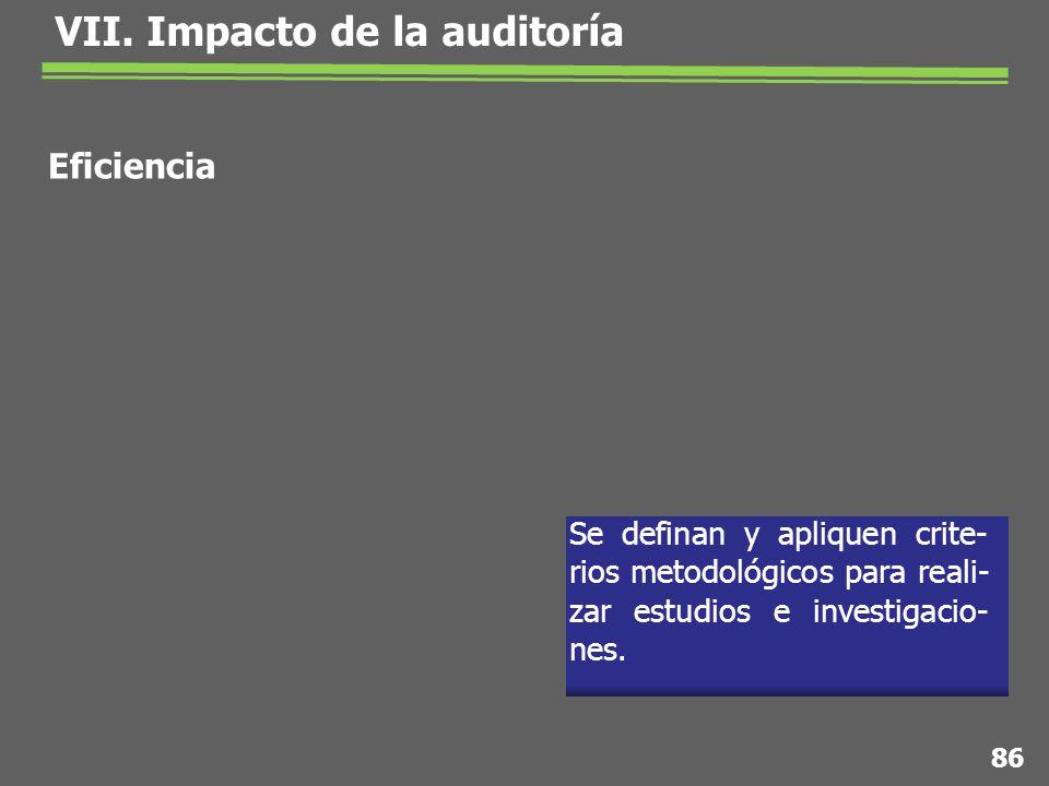 Se definan y apliquen crite- rios metodológicos para reali- zar estudios e investigacio- nes.