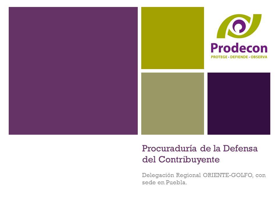 Procuraduría de la Defensa del Contribuyente Delegación Regional ORIENTE-GOLFO, con sede en Puebla.