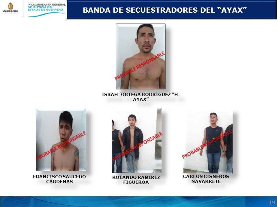 BANDA DE SECUESTRADORES DEL AYAX.
