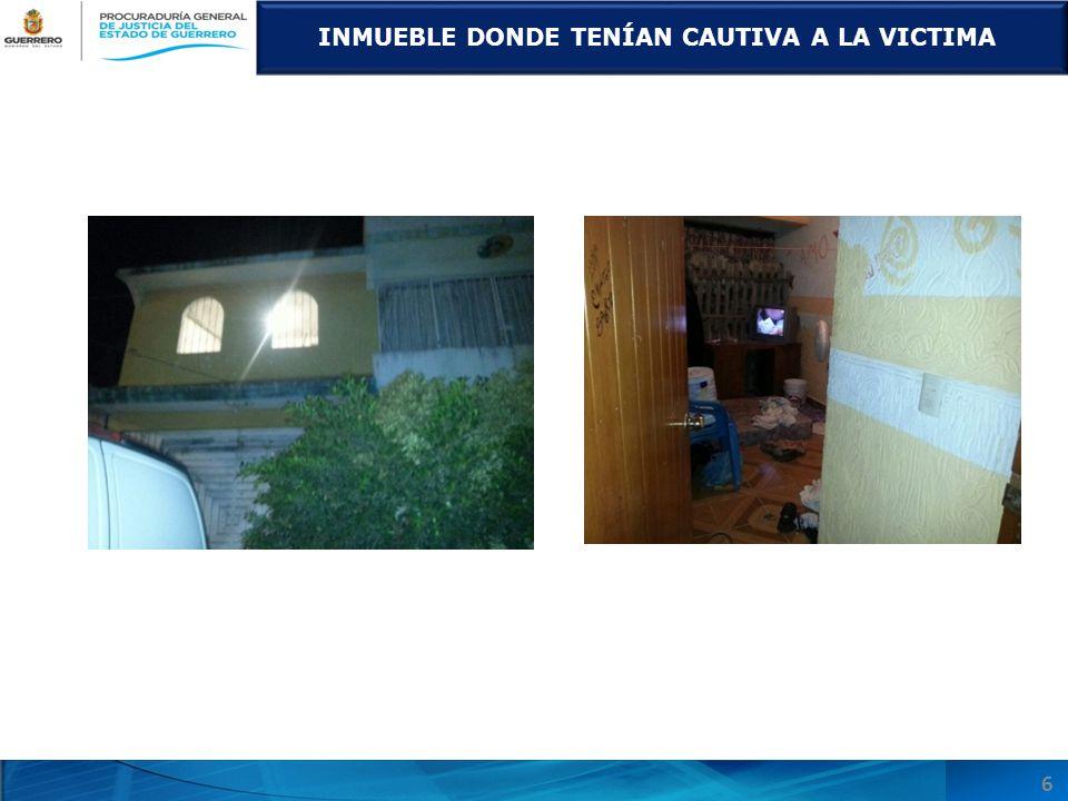 INMUEBLE DONDE TENÍAN CAUTIVA A LA VICTIMA 6