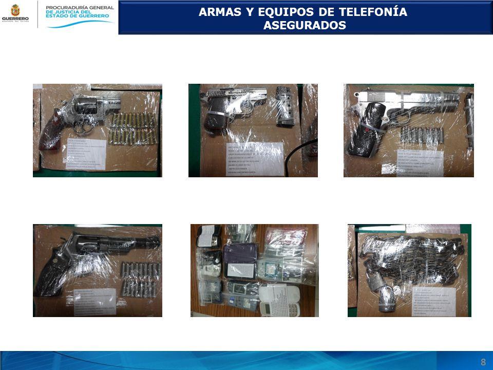 ARMAS Y EQUIPOS DE TELEFONÍA ASEGURADOS 8