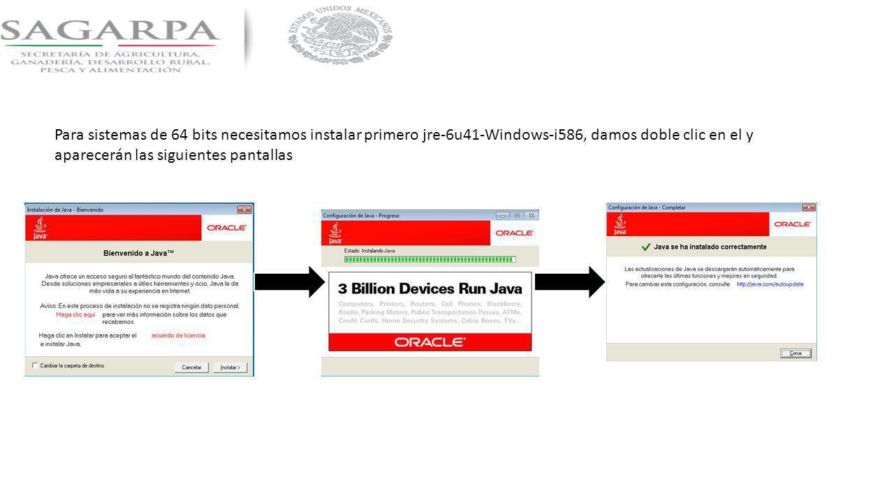 El segundo programa que necesitamos instalar jdk-6u41-windows-x64, damos doble clic en el y empezamos la instalación de el Java 6 Update 41.