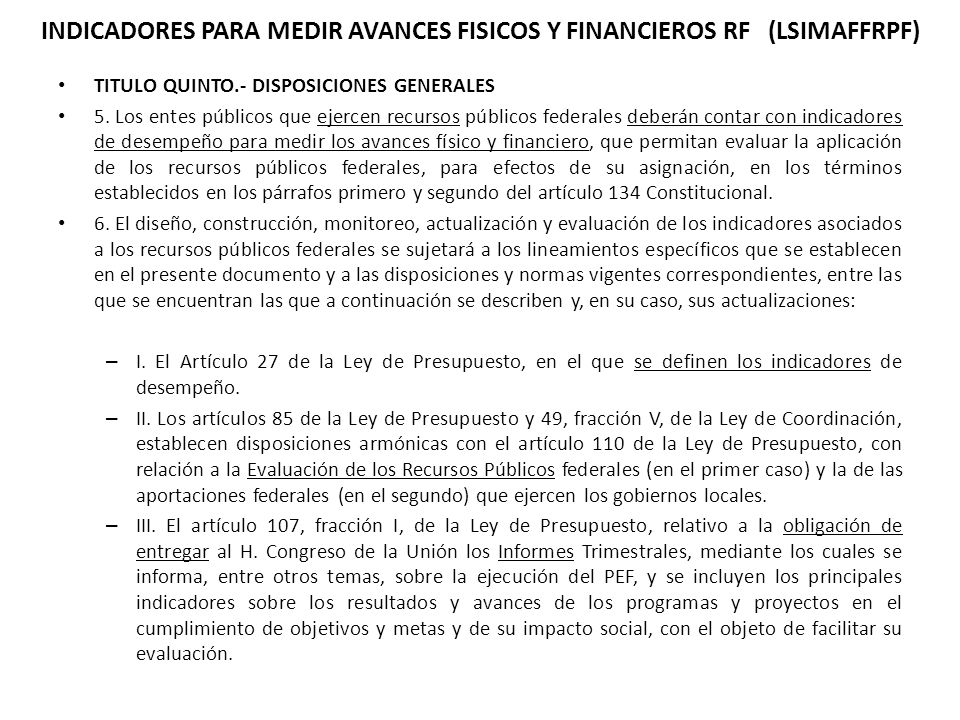 TITULO QUINTO.- DISPOSICIONES GENERALES 5.