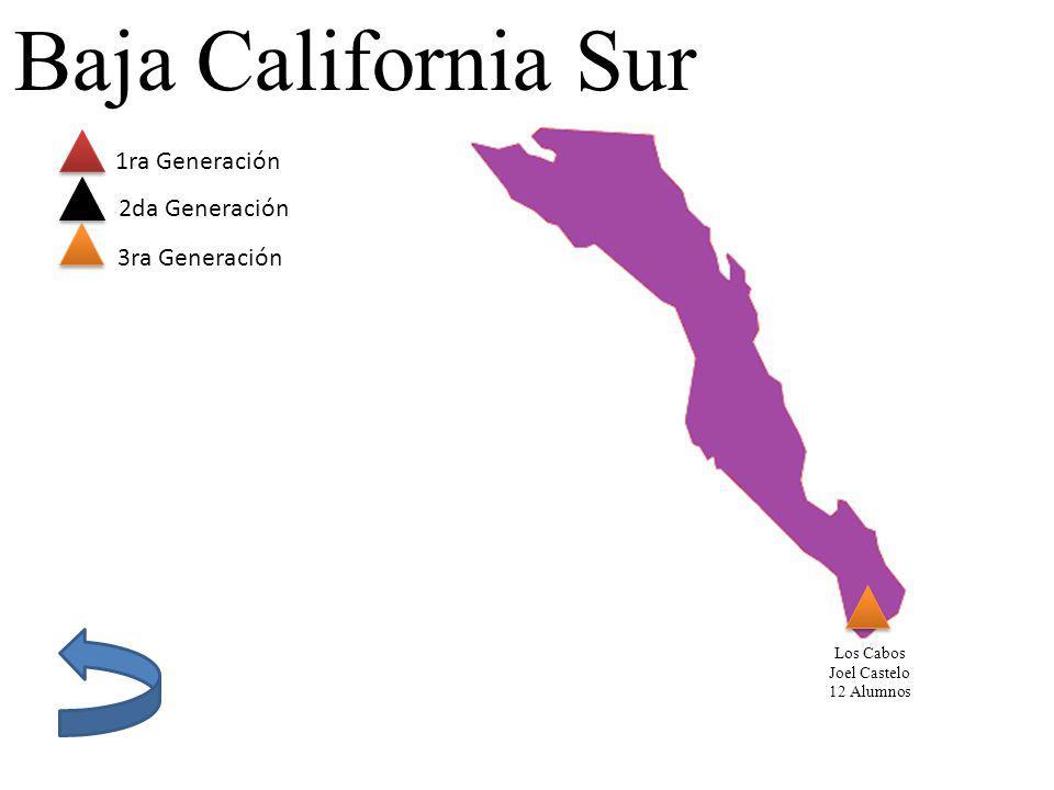 Baja California Sur 1ra Generación 2da Generación 3ra Generación Los Cabos Joel Castelo 12 Alumnos