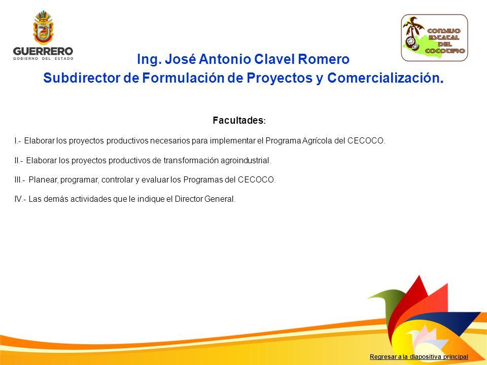 Regresar a la diapositiva principal C.P.Inocente Onofre Gallardo Subdirector Administrativo.