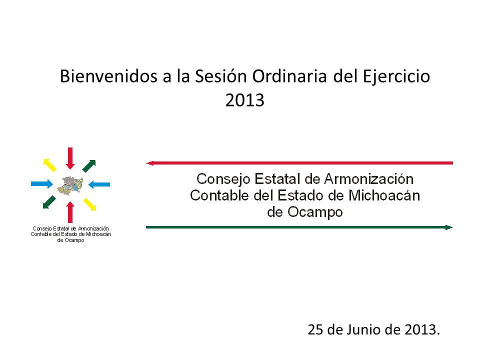 Bienvenidos a la Sesión Ordinaria del Ejercicio 2013 25 de Junio de 2013.