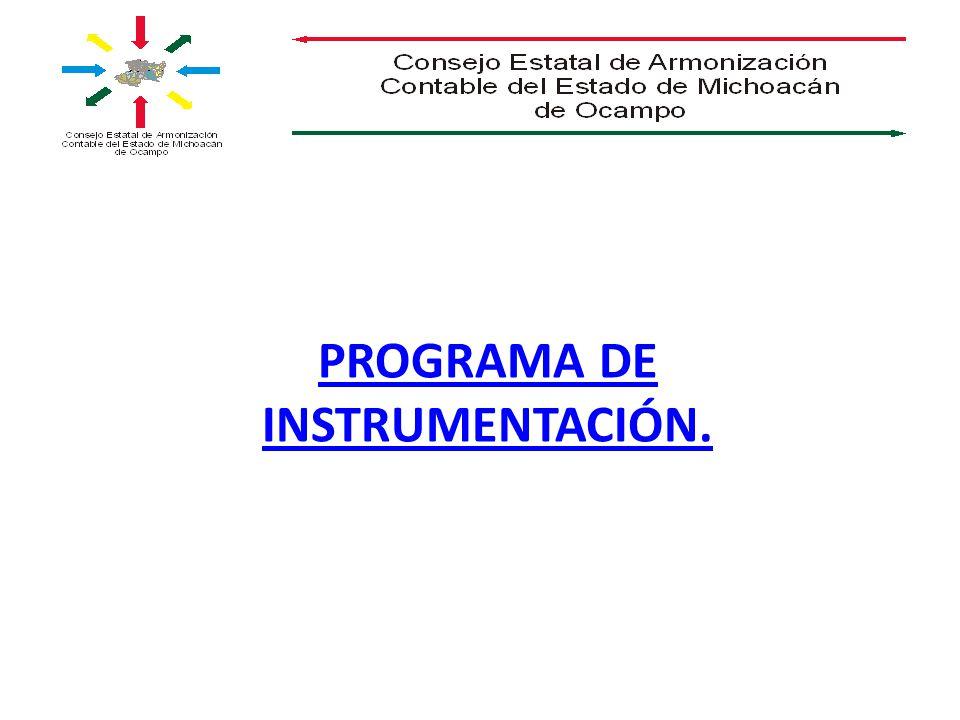 PROGRAMA DE INSTRUMENTACIÓN.