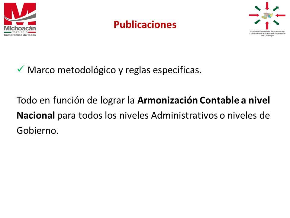 Marco metodológico y reglas especificas.