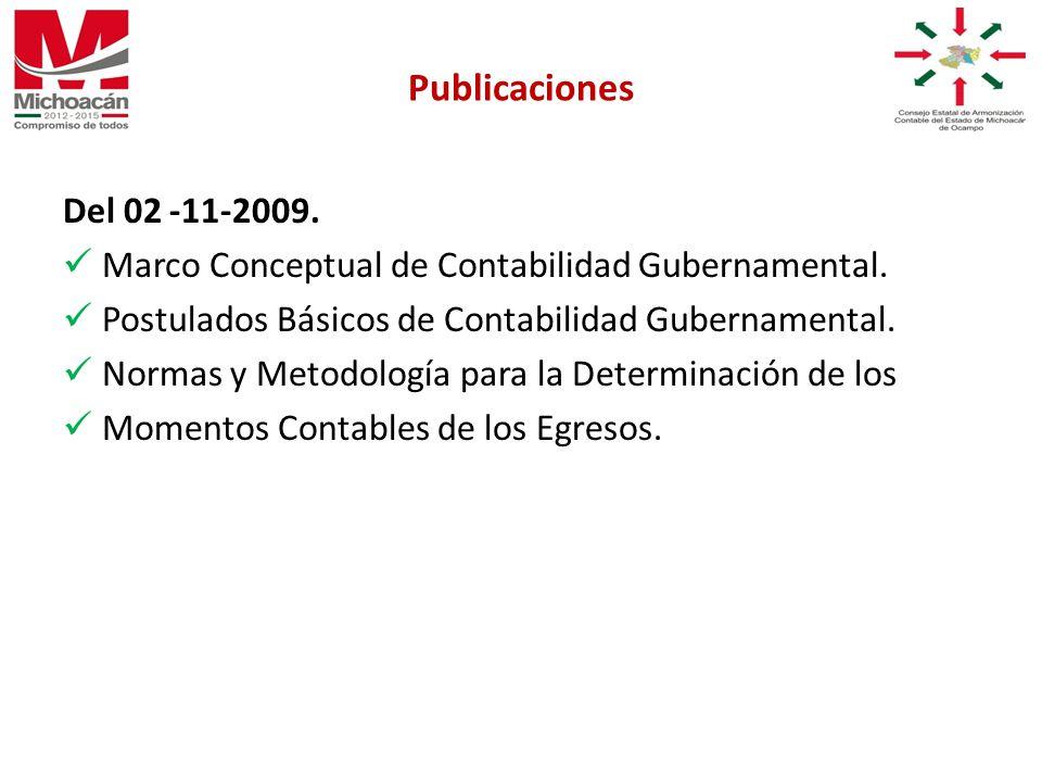 Del 02 -11-2009. Marco Conceptual de Contabilidad Gubernamental.