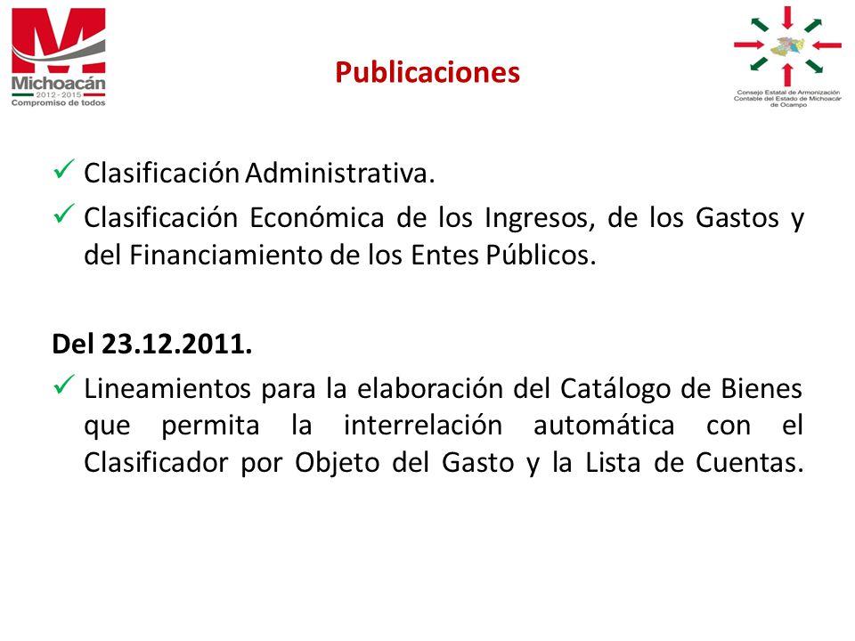 Clasificación Administrativa.