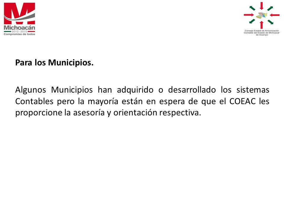 Para los Municipios.
