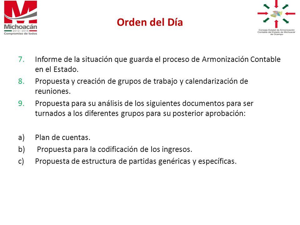 7.Informe de la situación que guarda el proceso de Armonización Contable en el Estado.