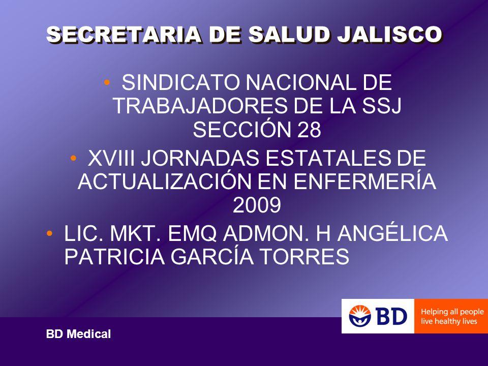 BD Medical Asesoría Portafolio de productos Entrenamiento Guías y lineamientos nacionales e internacionales ej.