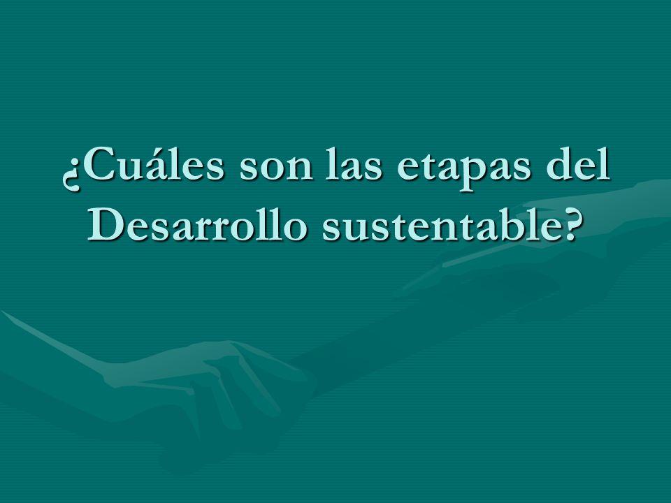 ¿Cuáles son las etapas del Desarrollo sustentable?