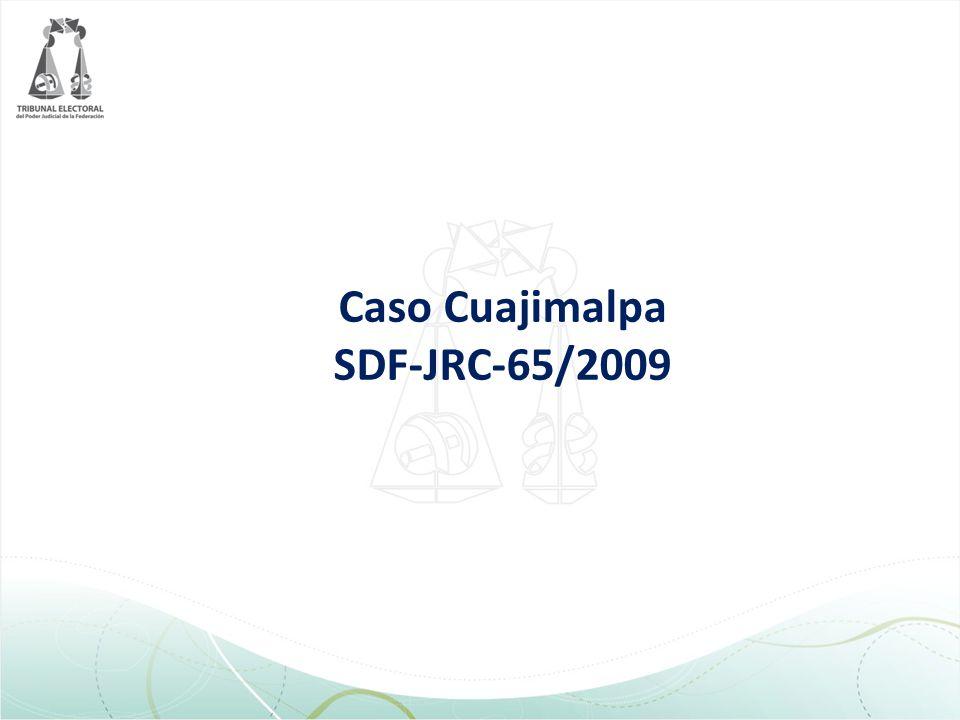 Caso Cuajimalpa SDF-JRC-65/2009
