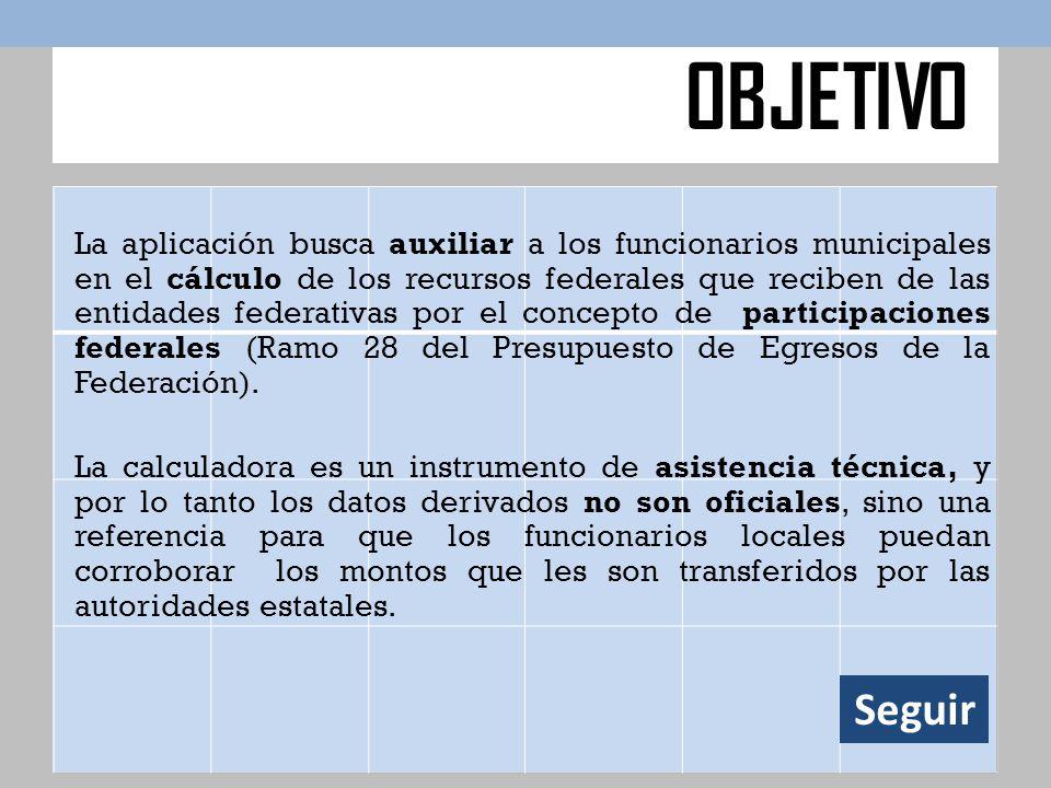 La aplicación busca auxiliar a los funcionarios municipales en el cálculo de los recursos federales que reciben de las entidades federativas por el co