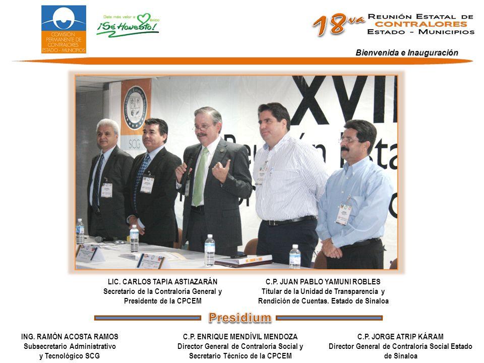 Bienvenida e Inauguración ING.