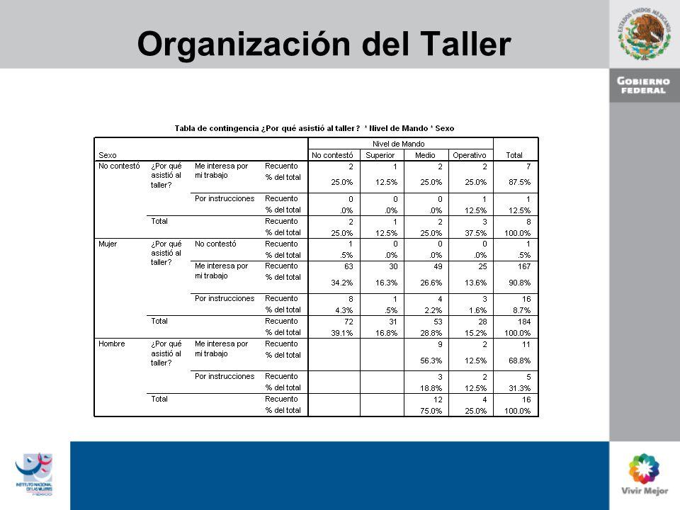 Organización del Taller