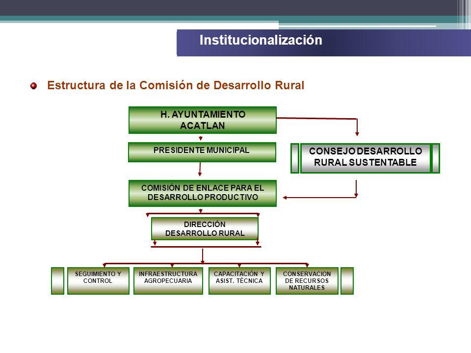 Estructura de la Comisión de Desarrollo Rural H.