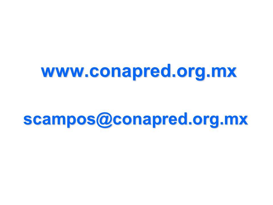 www.conapred.org.mx scampos@conapred.org.mx