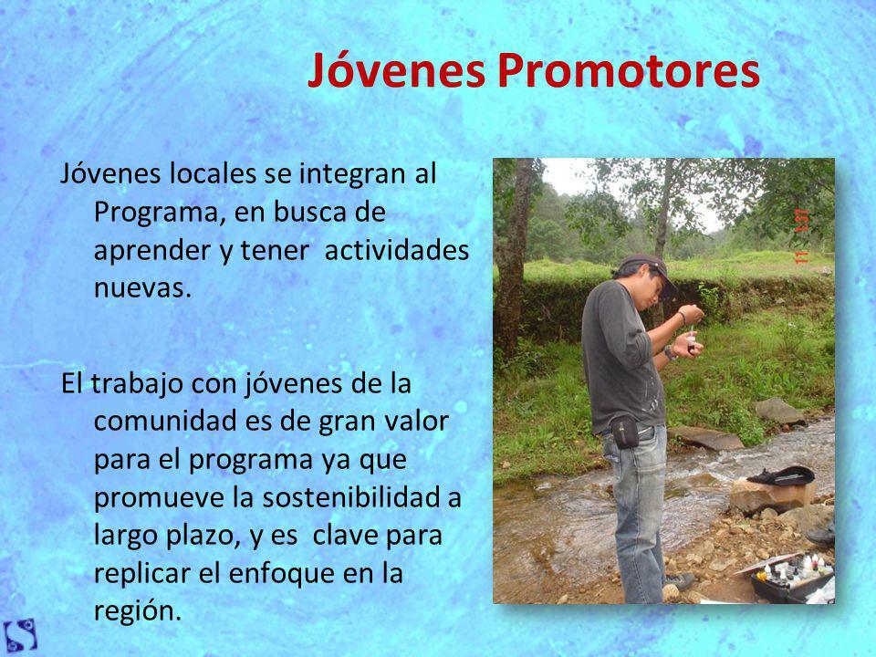 Jóvenes Promotores Jóvenes locales se integran al Programa, en busca de aprender y tener actividades nuevas.