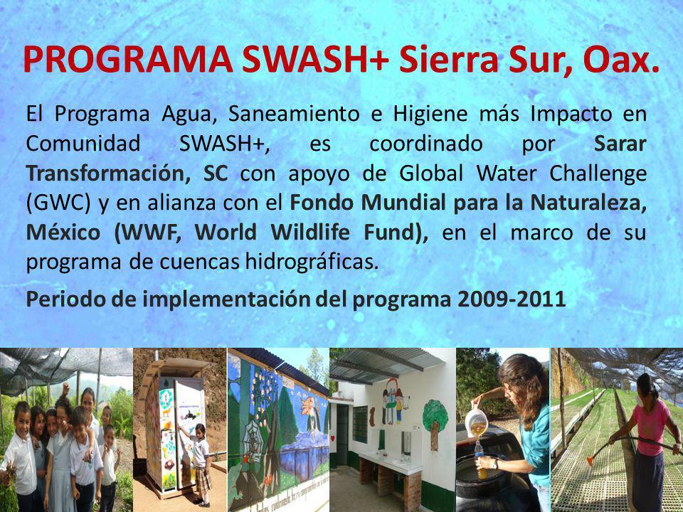 Antecedentes 2007: Sarar Transformación (Sarar-T) comienza a colaborar con WWF, en la implementación de saneamiento ecológico en la cuenca alta de la Sierra Sur del Estado de Oaxaca, México.