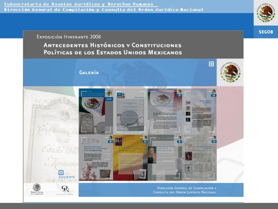 Subsecretaría de Asuntos Jurídicos y Derechos Humanos Dirección General de Compilación y Consulta del Orden Jurídico Nacional