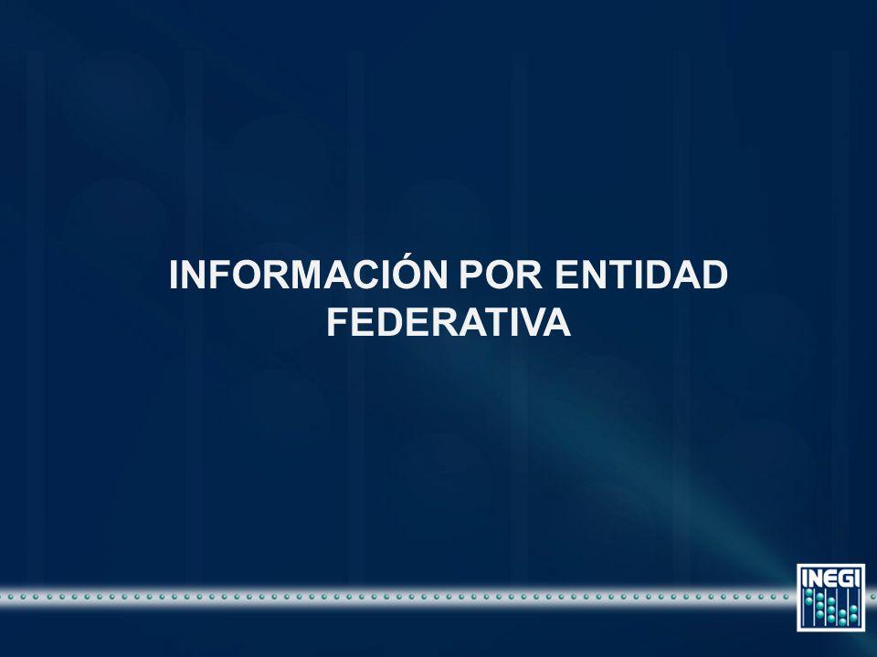 INFORMACIÓN POR ENTIDAD FEDERATIVA
