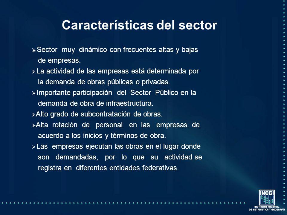 Sector muy dinámico con frecuentes altas y bajas de empresas.