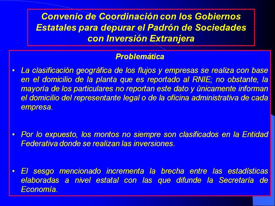 Antecedentes La Secretaría de Economía difunde trimestralmente un informe sobre el comportamiento de la inversión extranjera directa (IED) en México.