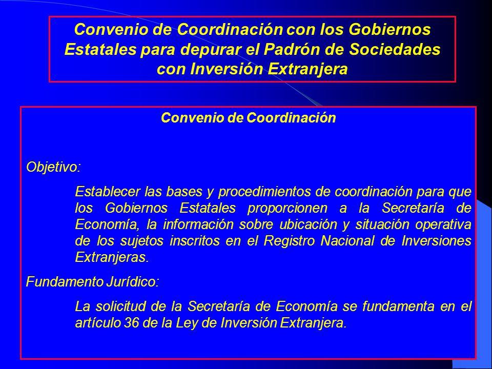 Instrumento Propuesto El artículo 31 de la Ley de Inversión Extranjera (LIE) establece que el Registro Nacional de Inversiones Extranjeras no es público; por ello, la Secretaría de Economía no puede proporcionar datos a nivel de empresa a los Gobiernos Estatales.