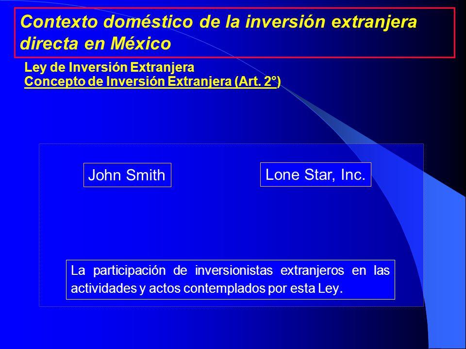 John Smith Mary Smith Sociedad Mexicana A con mayoría de capital extranjero 51% 49% Sociedad Mexicana B 99% La realizada por sociedades mexicanas con mayoría de capital extranjero.