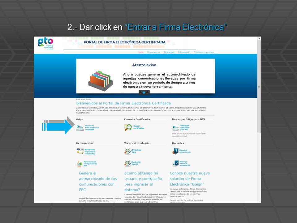 3.- Seleccionar su certificado Digital y dar click en Aceptar