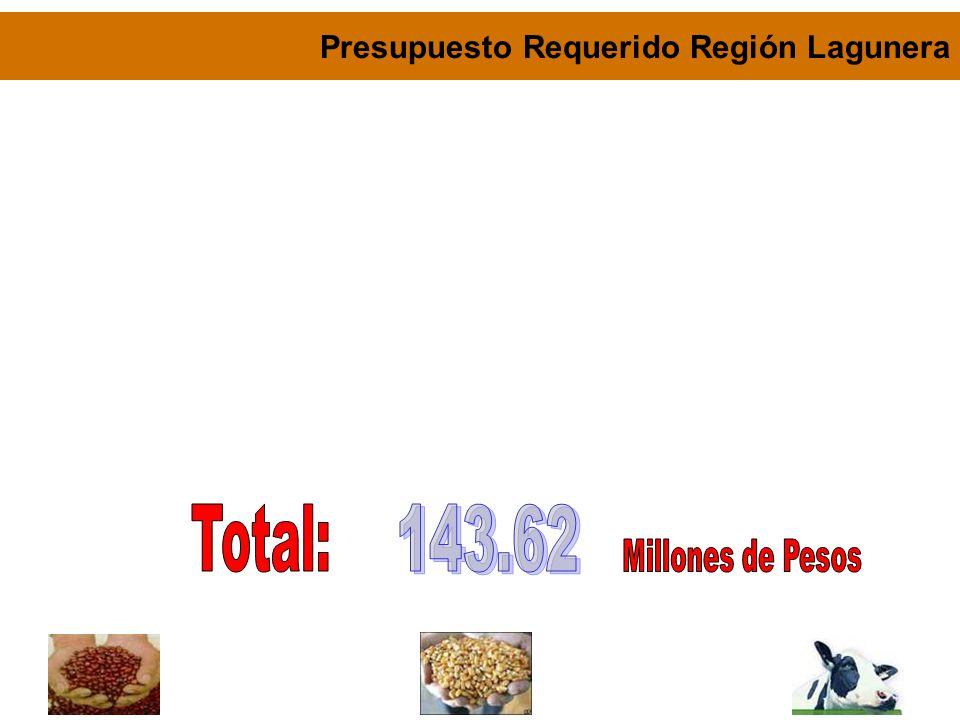 Presupuesto Requerido Región Lagunera